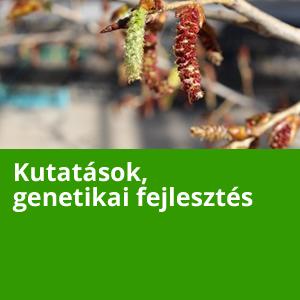 Kutatások, genetikai fejlesztések